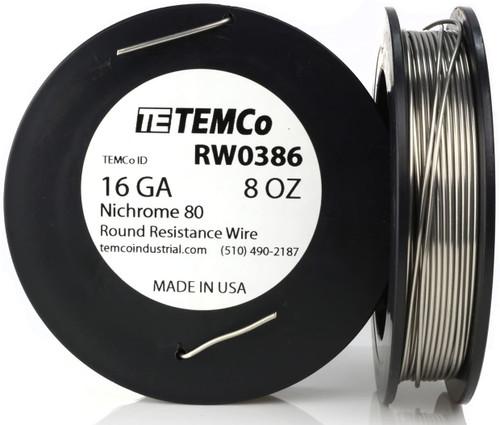 16 AWG 8 oz Nichrome 80 resistance wire.
