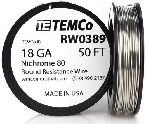 18 AWG 50 ft Nichrome 80 resistance wire.