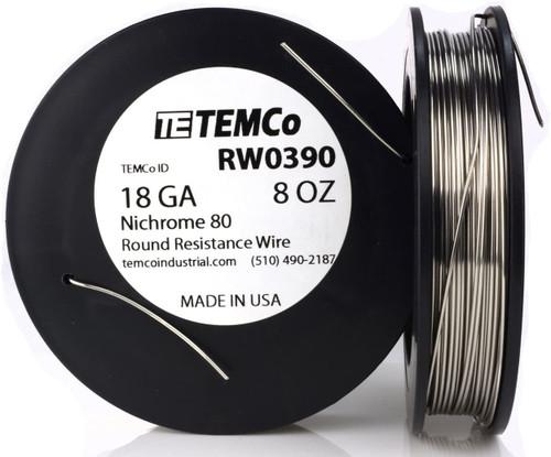 18 AWG 8 oz Nichrome 80 resistance wire.