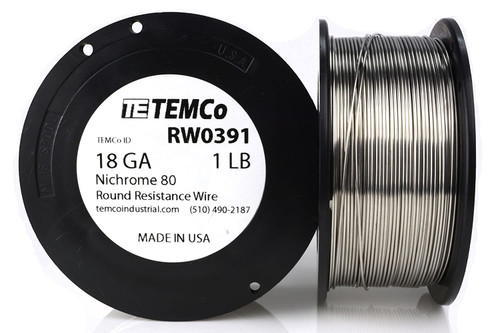 18 AWG 1 lb Nichrome 80 resistance wire.
