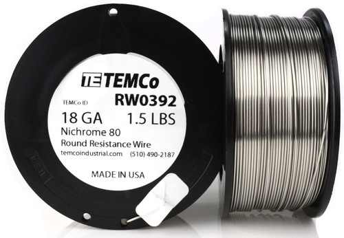 18 AWG 1.5 lb Nichrome 80 resistance wire.