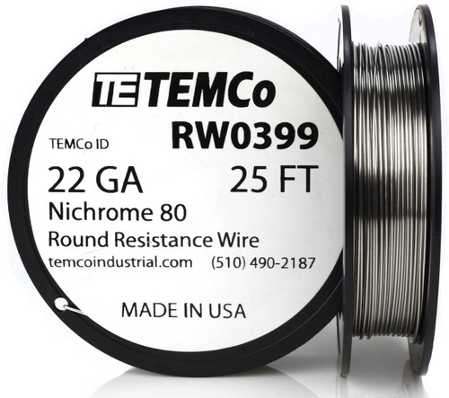 22 AWG 25 ft Nichrome 80 resistance wire.