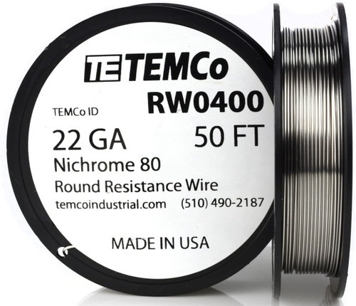 22 AWG 50 ft Nichrome 80 resistance wire.
