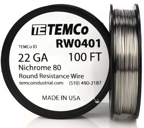 22 AWG 100 ft Nichrome 80 resistance wire.