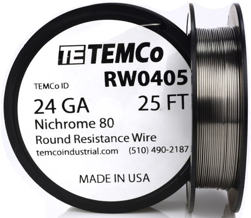 24 AWG 25 ft Nichrome 80 resistance wire.