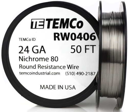 24 AWG 50 ft Nichrome 80 resistance wire.