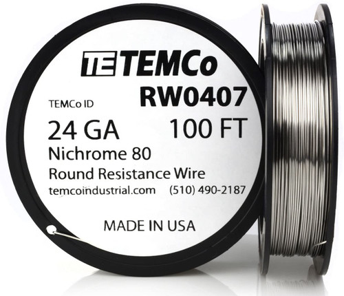 24 AWG 100 ft Nichrome 80 resistance wire.