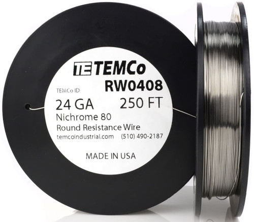 24 AWG 250 ft Nichrome 80 resistance wire.