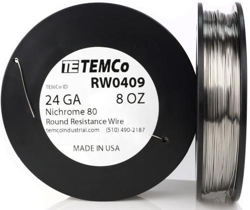 24 AWG 8 oz Nichrome 80 resistance wire.