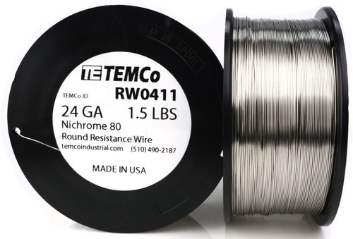 24 AWG 1.5 lb Nichrome 80 resistance wire.
