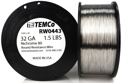 32 AWG 1.5 lb Nichrome 80 resistance wire.