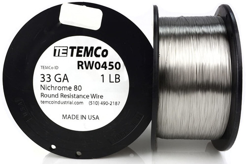 33 AWG 1 lb Nichrome 80 resistance wire.