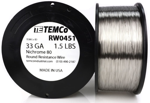 33 AWG 1.5 lb Nichrome 80 resistance wire.