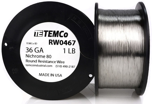 36 AWG 1 lb Nichrome 80 resistance wire.