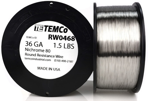 36 AWG 1.5 lb Nichrome 80 resistance wire.