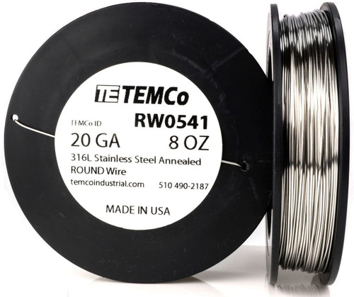 Stainless Steel Wire 20 AWG RW0541 - 8 oz 181 ft SS 316L Non-Resistance AWG