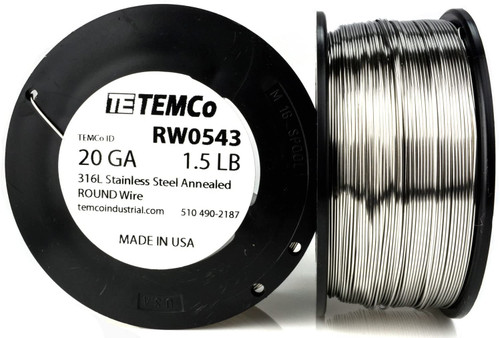 Stainless Steel Wire 20 AWG RW0543 - 1.5 lb 544 ft SS 316L Non-Resistance AWG