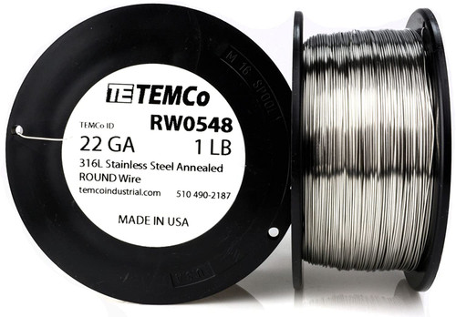 Stainless Steel Wire 22 AWG RW0548 - 1 lb 580 ft SS 316L Non-Resistance AWG