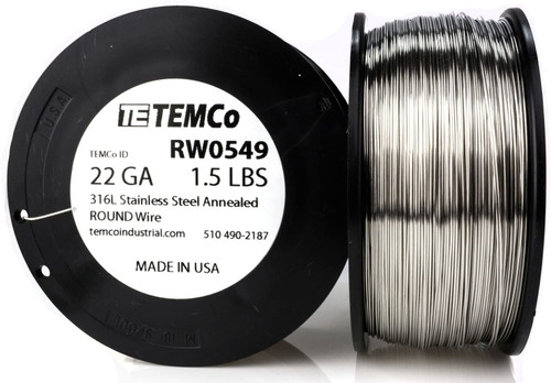 Stainless Steel Wire 22 AWG RW0549 - 1.5 lb 870 ft SS 316L Non-Resistance AWG