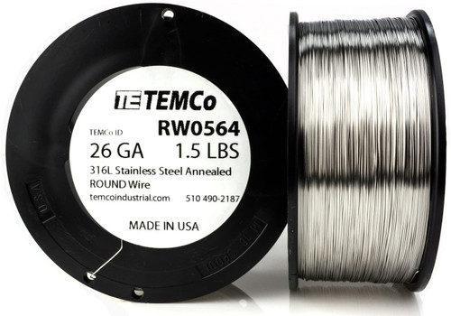 Stainless Steel Wire 26 AWG RW0564 - 1.5 lb 2202 ft SS 316L Non-Resistance AWG