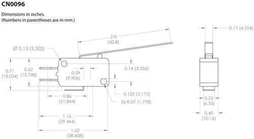 Long Lever Arm Micro Limit Switch