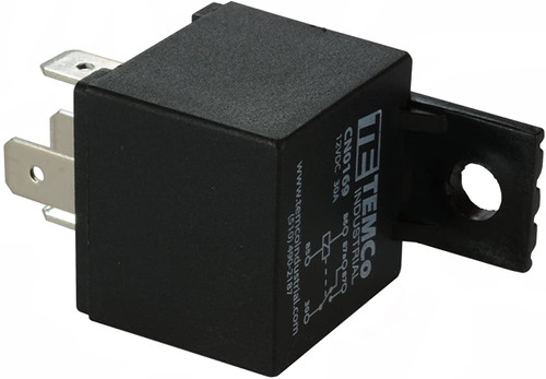 24V 30A 5 Pin Sealed Bosch Style Automotive Relay w/ Integrated Fuse SPDT