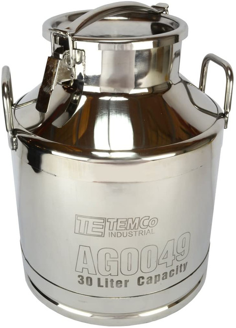 30 Liter (8 Gallon)  Stainless Steel Milk Can / Wine Pail / Sealed Dry Storage