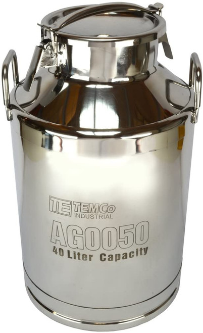 40 Liter (10.5 Gallon) Stainless Steel Milk Can / Wine Pail / Sealed Dry Storage