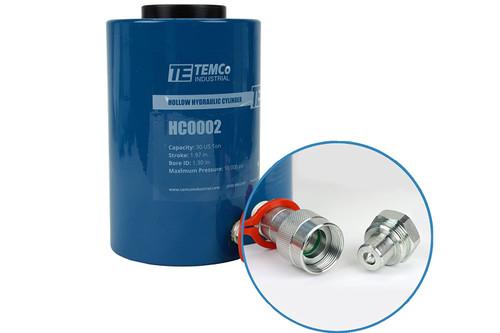 Hollow Hydraulic Cylinder Ram 30 TON 2 Inch Stroke