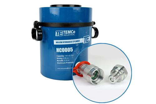 Hollow Hydraulic Cylinder Ram 100 TON 3 Inch Stroke