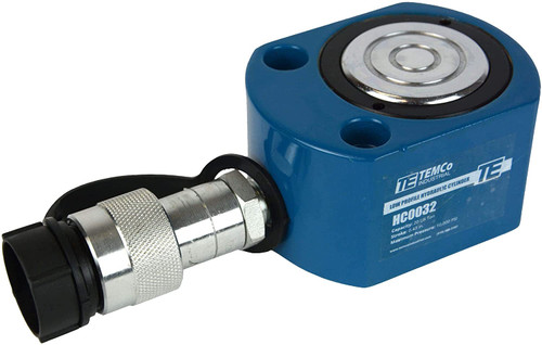 """Low Profile Height Hydraulic Cylinder Puck 20 Ton, 0.43"""" Stroke"""