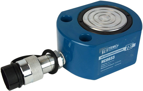 """Low Profile Height Hydraulic Cylinder Puck 30 Ton, 0.51"""" Stroke"""