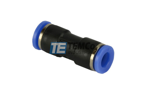 """1/4"""" OD Straight Tube 6mm Pneumatic Air Quick Push to Connect Fitting"""