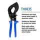 TEMCo TH0035 Ratcheting Cable Cutter - Cuts up to 500 MCM (240mm²)