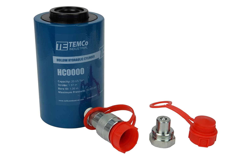 "TEMCo HC0029 Telescoping Hydraulic Cylinder Tons .59/""//1.0 49.6//13.7//5 @ Stroke"