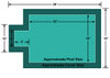 16' x 32' Rectangle with 4' x 8' Center End Step Loop-Loc II Super Mesh In-Ground Pool Safety Cover