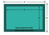 18' x 38' Rectangle Ultra-Loc III Solid Green In-Ground Pool Safety Cover