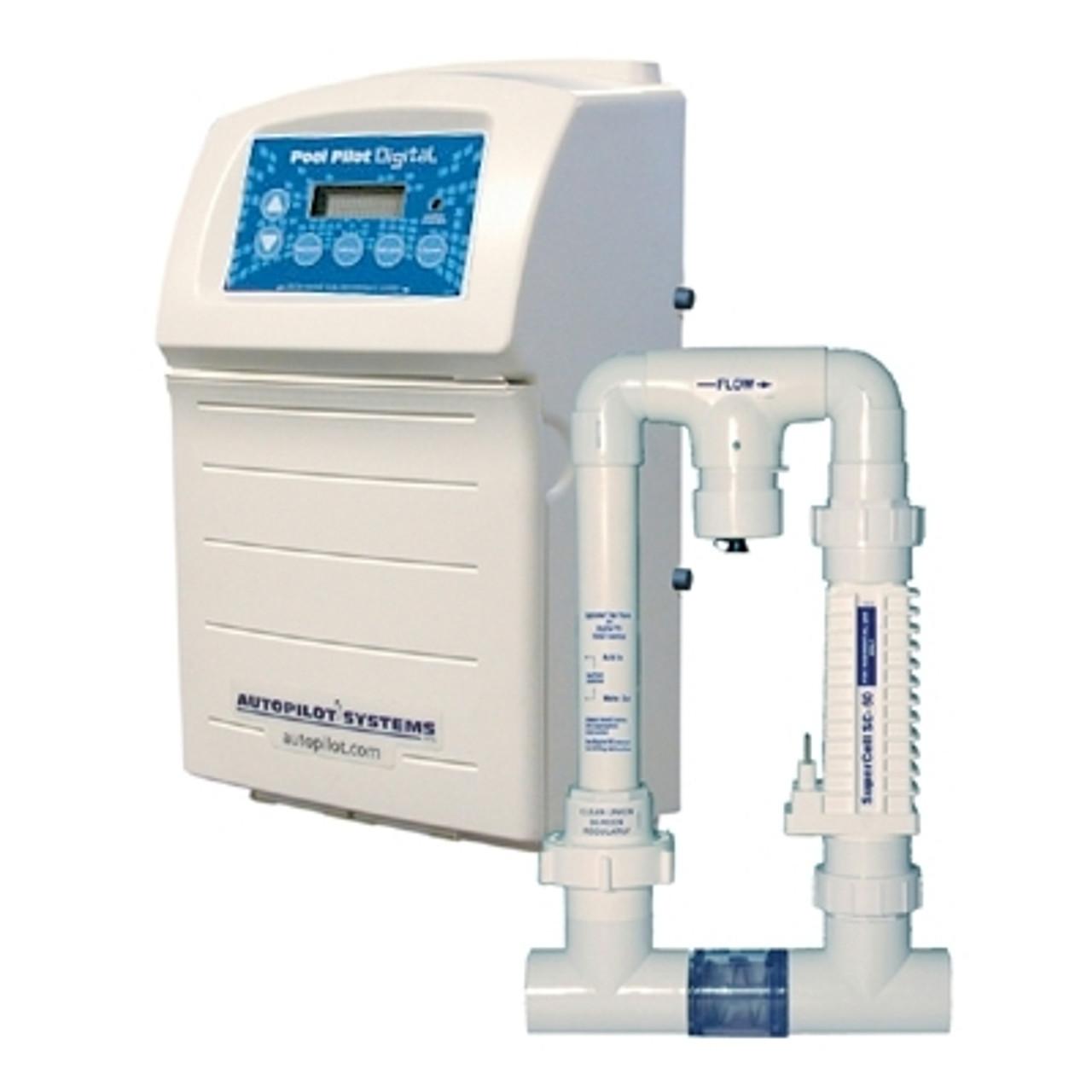 AutoPilot Pool Pilot Digital Salt Power Supply System - 220V - DIG-220  with RC-35 / SC-36 Cell