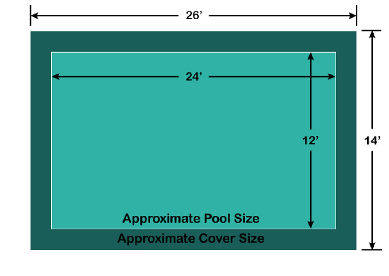 12' x 24' Rectangle Loop-Loc II Super Dense Mesh In-Ground Pool Safety Cover