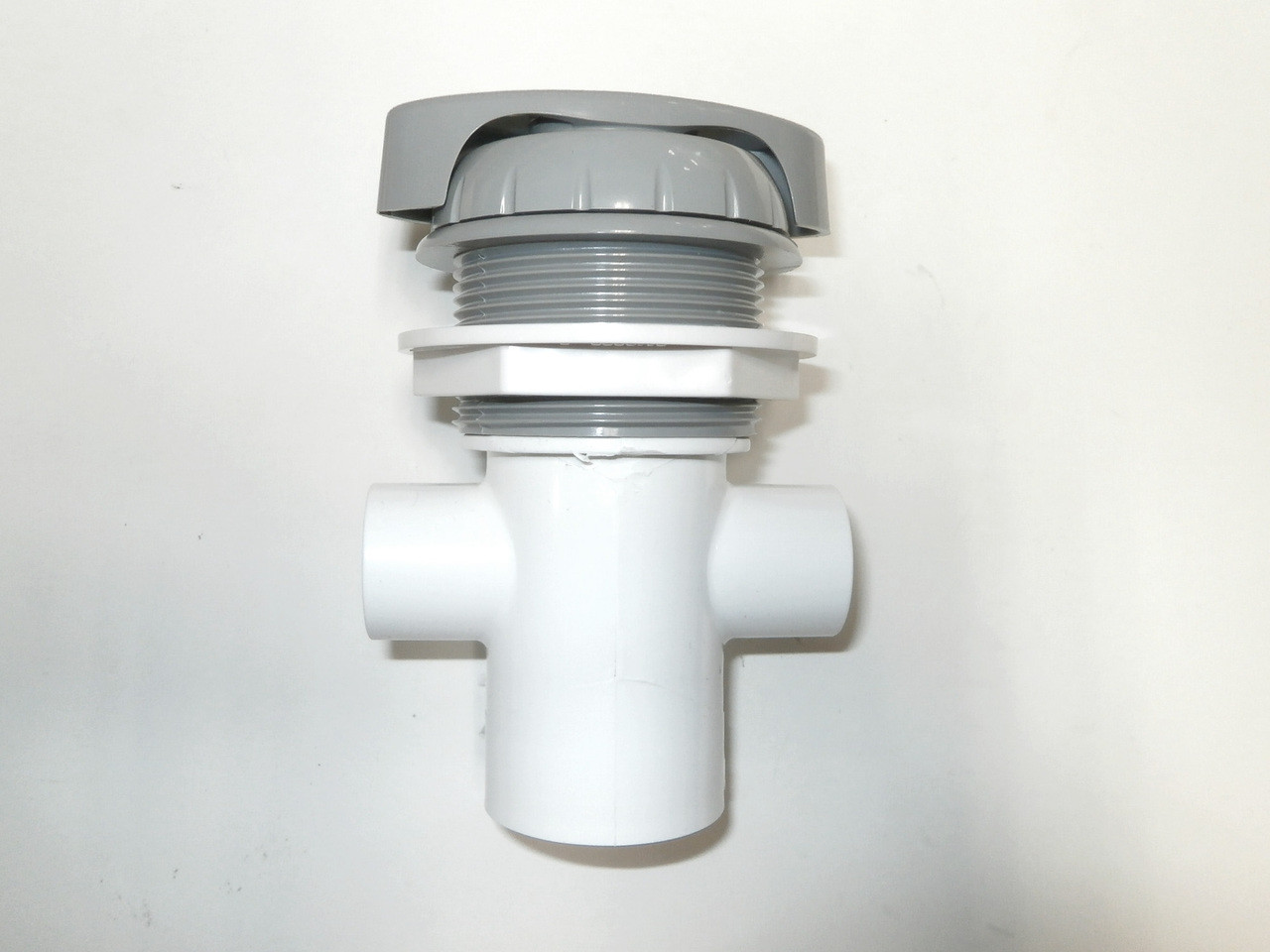Master Spa - X279630 - .5 inch Gray Waterfall 3 Way Diverter Valve - Side View