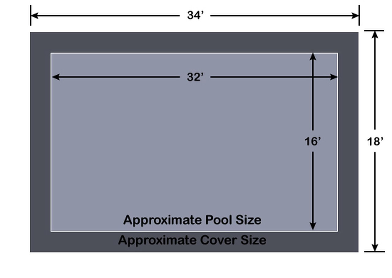 16' x 32' Rectangle Loop-Loc II Super Dense Mesh In-Ground Pool Safety Cover