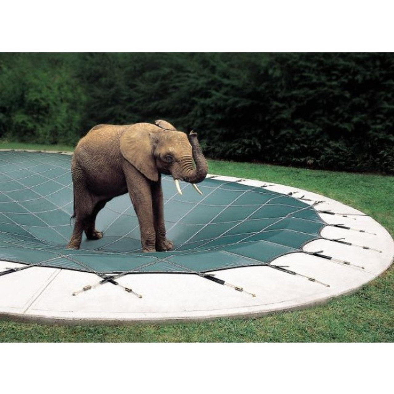16' x 40' Rectangle Ultra-Loc III Solid Gray In-Ground Pool Safety Cover