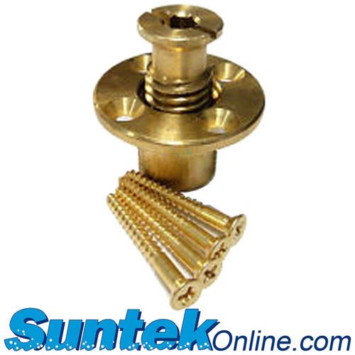 "Loop-Loc Wood Deck Anchor Flange 1/8"" diameter countersunk holes"
