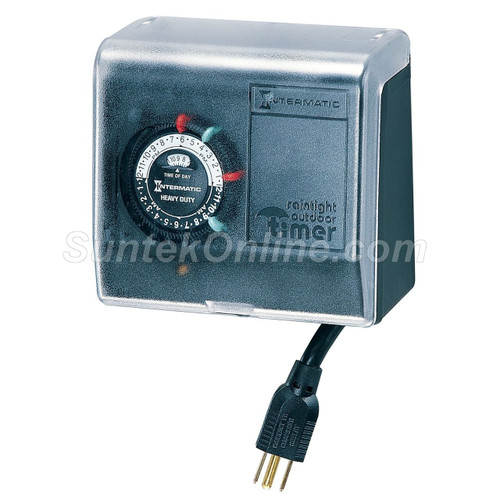Portable Pool & Spa Timer For Indoor & Outdoor Use Control For: Filter Pumps Fountains Waterfalls Outdoor Lights and more - P1101P