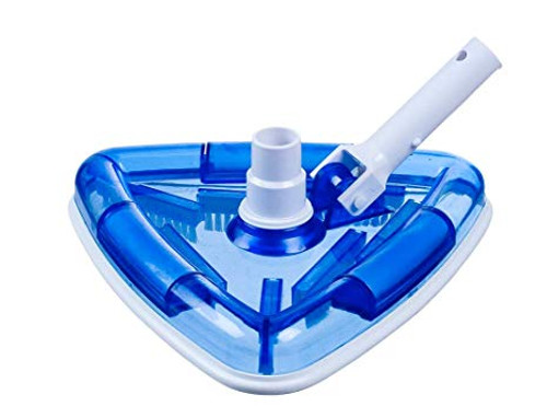 Clear Blue Weighted Triangle Vacuum Head