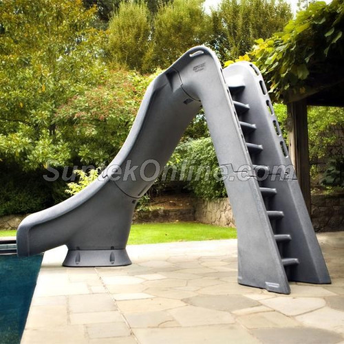 S.R. Smith Typhoon Left Curve Pool Slide - Gray Granite