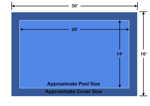 14' x 28' Rectangle Loop-Loc II  Blue Super Dense Mesh In-Ground Pool Safety Cover