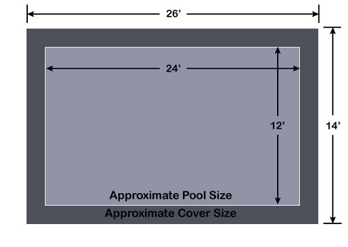 12' x 24' Rectangle Loop-Loc II Gray Super Dense Mesh In-Ground Pool Safety Cover