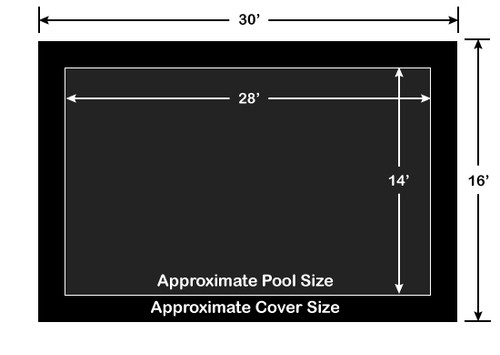 14' x 28' Rectangle Loop-Loc II Black Super Mesh In-Ground Pool Safety Cover