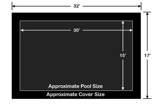 15' x 30' Rectangle Loop-Loc II Black Super Mesh In-Ground Pool Safety Cover
